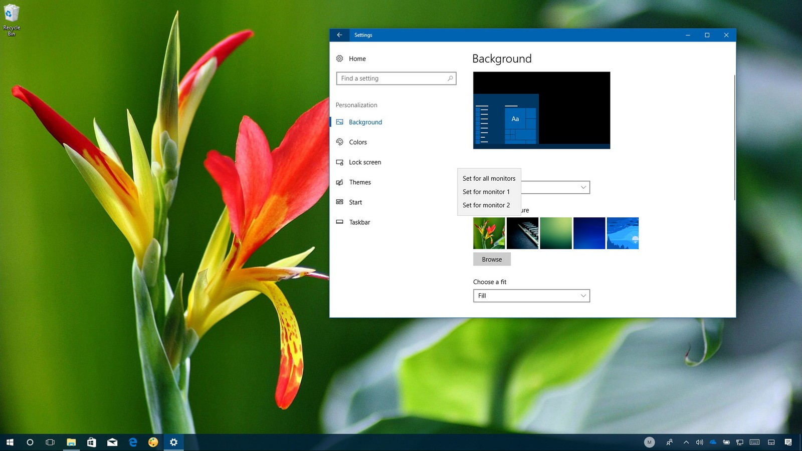 Begin With Setting Up Different Wallpaper On Multiple Monitors In Windows 10